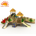 Outdoor playset replacement parts with slide