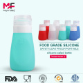 Food grade custom silicone shampoo squeeze travel bottle