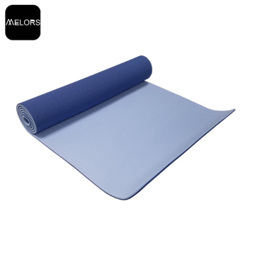 Customized logo Eco-friendly Double Color TPE Yoga Mat