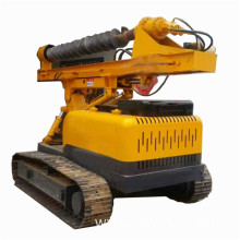 Big Discount for Screw Pile Driver Solar photovoltaic crawler ground drilling small pile driver export to Iceland Suppliers