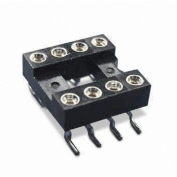 2.54mm Dual-in-Line Socket SMT (H=3.0 L=7.4)