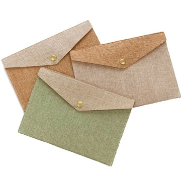A4 File Holder Envelope Jute Document Bag