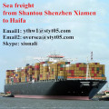 Shantou sea cargo freight agents to Haifa