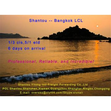 LCL Consolidation Shipping from Shantou to Bangkok
