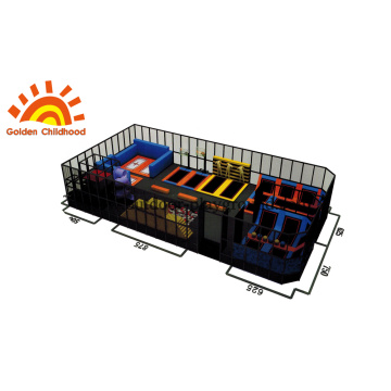 Small-size Trampoline With Sticky Wall