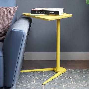 Yellow wood bedside tables