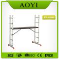 Aluminum folding scaffold ladder