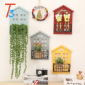 wooden decorative floating home round wall shelf