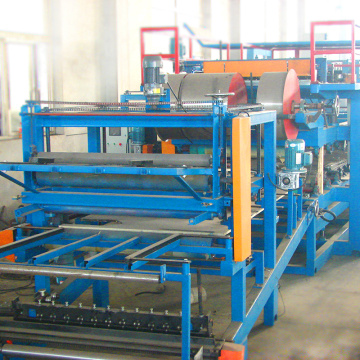 eps color steel sandwich wall panel machine
