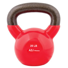 25LB Red Vinyl Coated Kettlebell