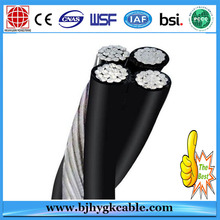 Famous Brand 10KV , PVC/XLPE insulated aerial bundle cable power cable