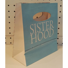 die cut handle art paper bag-sisterhood