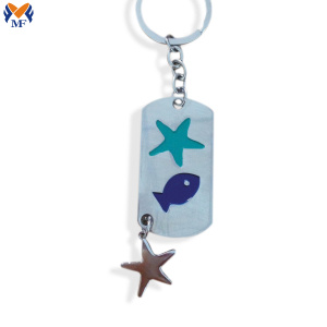 Custom metal dog tag keychain