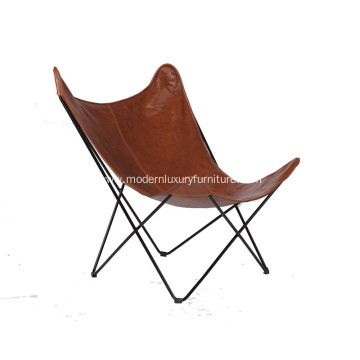 Good Quality for Modern PU Bar Chair Cozy Metal Frame Butterfly Lounge Chair supply to Netherlands Exporter