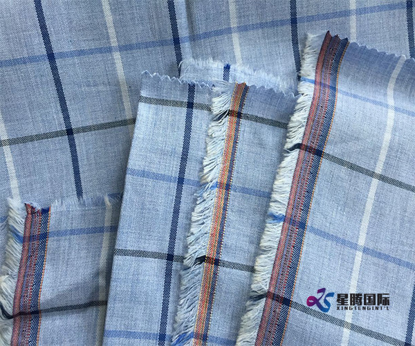 Checked Cotton Textile For Garment