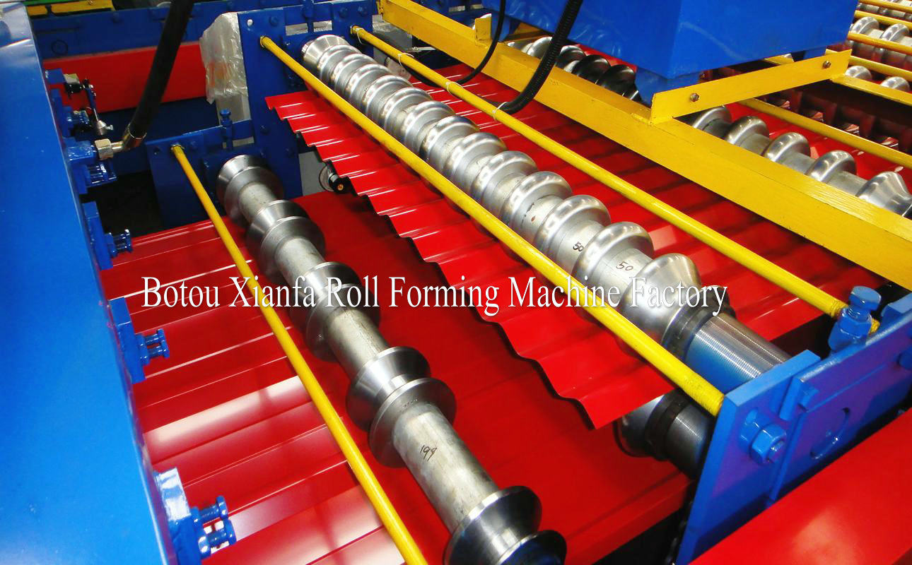 double layer IBR and corrugated roll forming machine