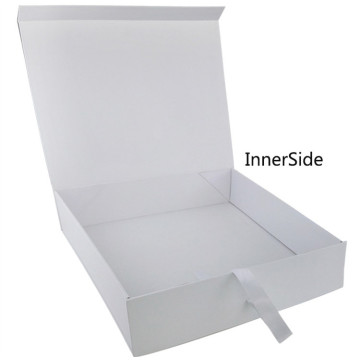 White Cardboard Ribbon Tie Female Shoe Box