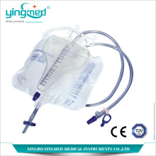 Chinese Professional for Urinary Drainage Bag With T Valve 3100ml Pyriform Urine bag with meter supply to Zambia Manufacturers