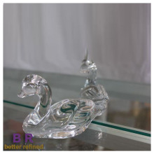 Transparency Glass Duckling Shape Figurine Home Decoration
