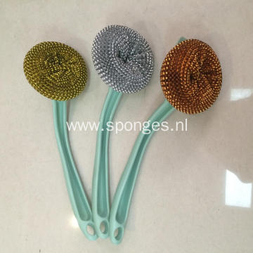 Steel wire cleaning ball handle kitchen item