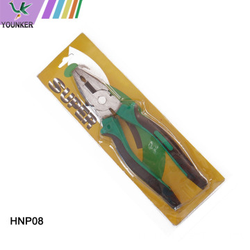 PVC Handle Flat Nose Wire Cutting Combination Plier