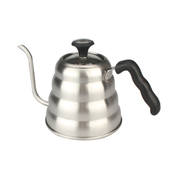 Pour Over Coffee Kettle WithTransparent Glass Lid