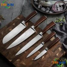 Japanese Damascus Steel Knives set 5pcs