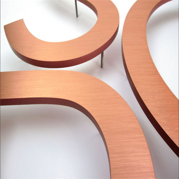 copper letters