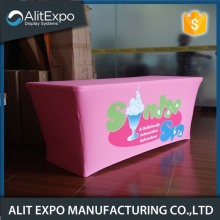 Fabric printed exhibition stretchable table cover