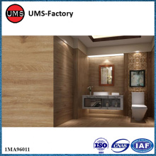Thin wood ceramic wall tiles for bathroom