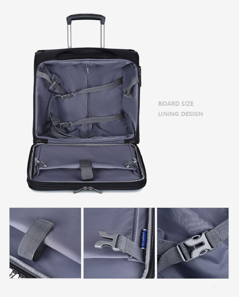 Expandable Soft Luggage Trolley Bag