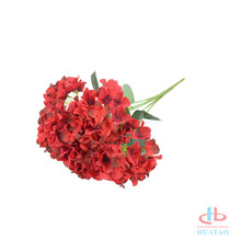 Silk hydrangea bushes flower for home decoration