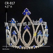 Sapphire Rhinestone Pageant Crowns