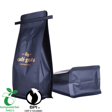 biodegradabble coffee kraft paper bags with valve wholesale packaging bag