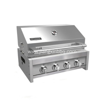 Full Stainless Steel 4 Burners Built-In BBQ Grill