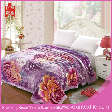 DOUBLE SIDED EMBOSSED HEAVY CLOUDY FLEECE BLANKET