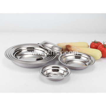 Korean Stainless Steel Round Dish Plates