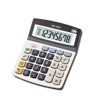 plastic double and flexible display desktop calculator