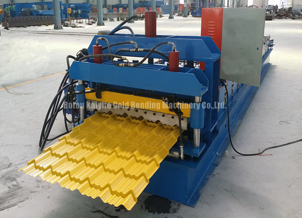 Metal Roof Corrugated Sheet Wall Panel Steel Structural Glazed Tiles Roll Forming Machine