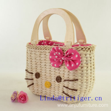 Hot Sale Girl Purse hand Bag Straw weave