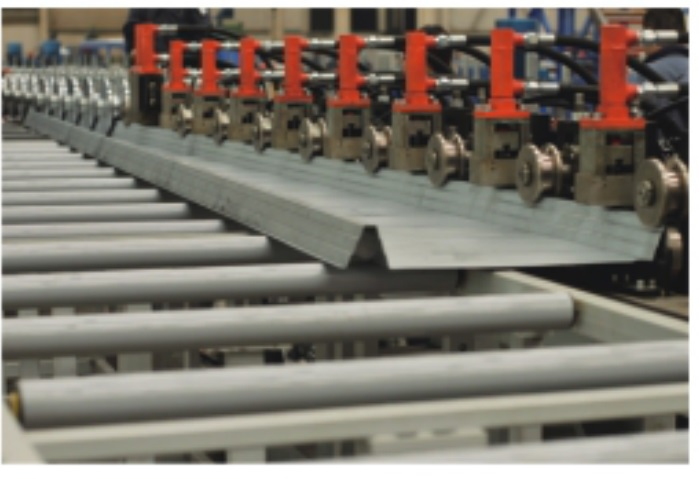 TF silo roof roll forming line2