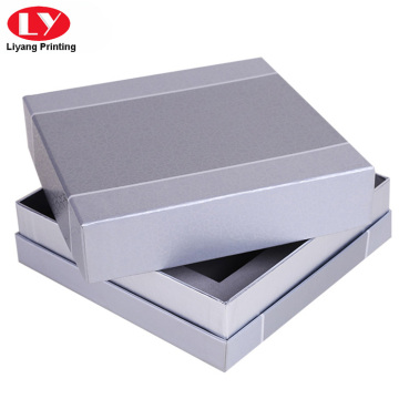 Custom square silver perfume box with foam
