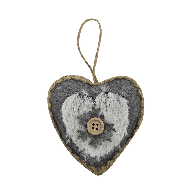 Winter Woodland Heart Hanging Decorations