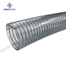 Reinforced Steel Wire PVC Clear Hose Abrasion Resistant