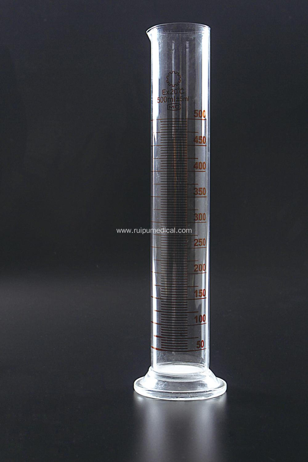 Measuring Cylinder with Spout and Graduations with Glass Round Base