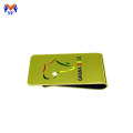 Mens golden money clip custom embossed logo