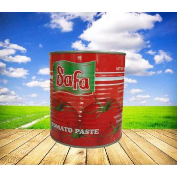 Double Concentrated Safa Tomato Paste with 400g can