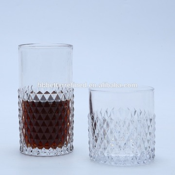 Unique Designed Diamond Hiball Glass Cup