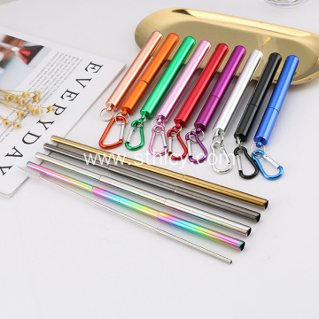 Hot Sale Stainless Steel Telescopic Straw