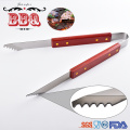 Barbecue grilling tool wooden handle bbq tools set